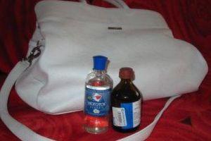 Убрать пятна с сумки